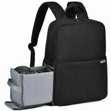 "CadeN Camera Bag Backpack Case with 14"" Laptop Compartmen for Sony Canon Nikon"
