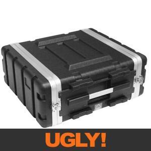 "4U 4RU 19"" Inch Rack Pro Audio Equipment Road Flight Case Stackable Dual-Sided"