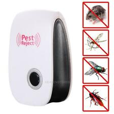 Electronic Ultrasonic Anti Pest Cockroach Bug Mosquito Mouse Killer Repeller NEW