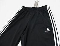 NWT ADIDAS 3-STRIPE Black-White Men's Track Pants Large pocket sweatpants jogger