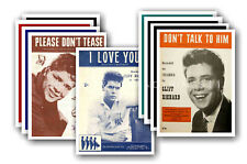 Cliff Richard  - 10 sheet music covers - collectable postcard set # 1