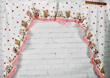 Vintage Strawberry Shortcake Valance Curtain - Ruffle Swag Rod Pocket 1980's