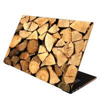 Laptop Folie  Aufkleber Schutzfolie für Notebook Skin Holzstapel 13-17 Zoll