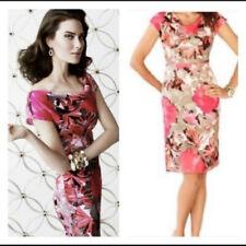 Banana Republic Madmen Linen Sheath dress XS 2 4 Floral Pink Taupe Career