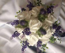 Scottish Wedding  Bridesmaid  White & Purple Thistles & Lavender £29.99