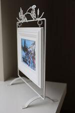 CADRE PHOTO SUSPENDU blanc bois/métal