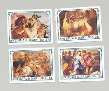 Antigua #1370, 1373-74, 1377 Rubens Art 4v Imperf Proofs