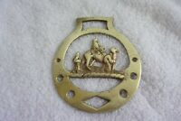 Vintage Brass Horse Bridle Medallion Christmas 3 Wise Men