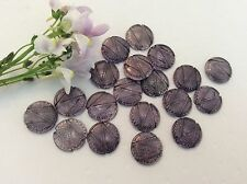 Vintage Glass Cabochon Amethyst Round German Flatback 13mm Pk 5 CRAFT Post Free