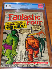 FANTASTIC FOUR #12 - CGC 7.0 FN/VF (1st Hulk vs Thing / FF Meeting ; OW/W Pages)