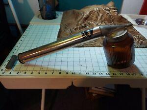 Vintage1950's Wizard Sprayer Hand Pump w Amber Glass Jar Works