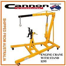 Engine Crane Garage Hoist Lifter  NEW 1000kg with Engine Stand folding legs