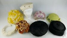 Vintage Women's Hat Lot ~ 8 Caps ~ Many Styles ~ As-Is