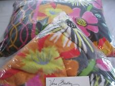 Vera Bradley Jazzy Blooms Blanket & Pillow Lot match Purse Tote Backpack Bed Nwt