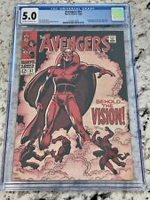 Avengers #57 CGC 5.0 1st app Silver Age Vision
