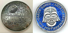 3D Death Star Wars Moon Silver Coin Darth Vader Sci Fi Films Rise of Skywalker