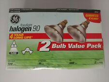Ge Halogen 90 Par 38 4-Year Bulb Twin Pack New Factory Sealed