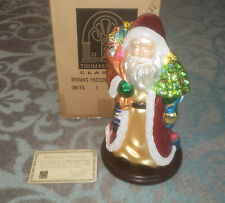 "Thomas Pacconi Classics 2003 - 16"" Blown Glass Santa"