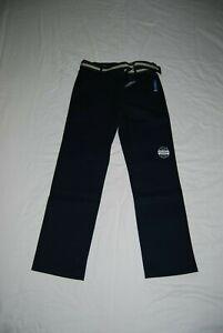 NEW NAUTICA Boy's NAVY School Uniform Flat Front Pants Size 12 Adjustable Waist