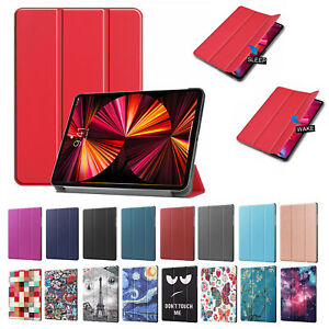 Tri-fold Shockproof Case Auto Wake/Sleep Cover Stand for iPad Pro Air Samsung