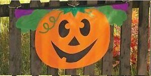 1 Halloween Yard Outdoor Indoor Swag Garland Friendly PUmpkin Jack 3FT Wide