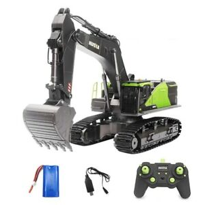 Stock 1:14 22CH Huina 1593 RC Excavator Construction Vehicle Toys For Boys