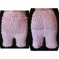 Vintage M/L RUFFLED COTTON BLOOMERS PANTIES Petti Pants Square Dance baby Pink