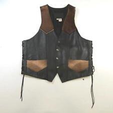 Leather Regular Size L Cowboy Vests for Men