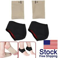 Plantar Fasciitis Arch Support with Foot Cushion Sleeve Gel Pads For Unisex Heel