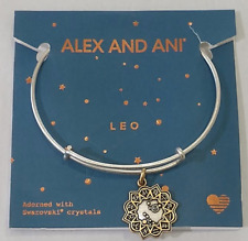 "Alex and Ani Bangle Bracelet rafaelian Gold/silver Two Tone ""Leo"" Zodiac"