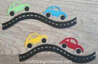 DIE CUTS - 4 x CARS & 2 x ROADS