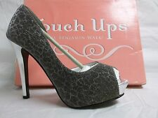 Touch Ups By Benjamin Walk Size 8 M Sissy Silver Open Toe Heels New Womens Shoes