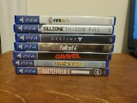Lot Of 7 PS4 Games. 3 Brand New. 4 Used.