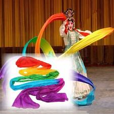 Belly Dance Rainbow Color Silk Satin Chinese Folk Theatre Scarf Dancing Veil