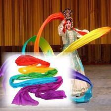 Belly Dance Rainbow Color Silk Satin Chinese Folk Theatre Scarf Dancing Veil