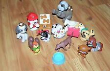 Lot Of Disney & Other Pvc Toy Figures Puppies, Dogs, Bowls & Food