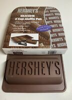 HERSHEY'S Silicone Bakeware 3 Cup Loaf Pan/Molds/Brownie Bars Refrigerator/Oven