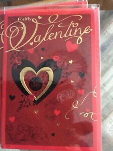 Traditional Hearts Design Quality Valentines Day Card. Lovely Words