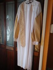 """Murphy Robes Clergy 54""""Womans Robe Cloth Vestment Cream & Gold The Evangelist"""