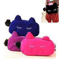 Women Lady Cat Makeup Bag Cosmetic Bags Cases Multi-function Purses Handbags
