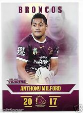 2017 NRL Traders Parallel Special (PS008) Anthony MILFORD Broncos