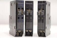 Lot of (3) Square D NE-8694 15amp Double Twin 2-Pole Trip Circuit Breaker