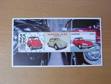 Denmark stamp MNH souvenir sheet 2017 'Veteran Cars'