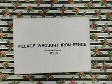 Dept 56 Village Landscape - Wrought Iron Fence 59994 Set 4 Mint In Box