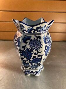 Seymour Mann Blue & White Porcelain Vase