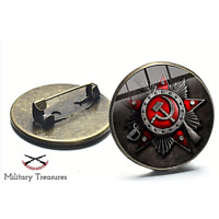 Soviet Union Russia Hammer Sickle USSR Pin Military Jewelry Brooch New