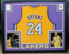 KOBE BRYANT FRAMED AUTOGRAPHED SIGNED LOS ANGELES LAKERS JERSEY STEINER