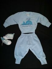Fisher Price 6-12 month Sweat Shirt & pants W Shoes boy baby winter outfit cute