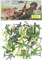 BMC D-Day WW2 Plastic Army Men Toy 34 Figures, 54mm 741801400247