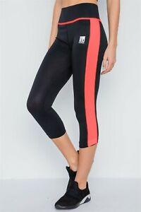 Ladies Capri Cropped Yoga Run Gym Workouts High Waist Pants Leggings for Womens